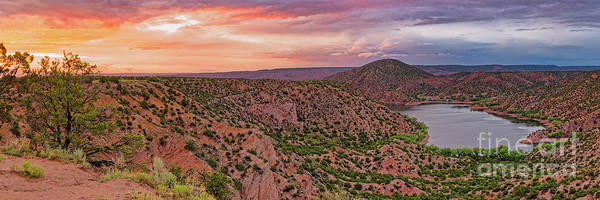 Photograph - Sunset Panorama Of Santa Cruz Lake - Cundiyo Chimayo New Mexico Land Of Enchantment by Silvio Ligutti