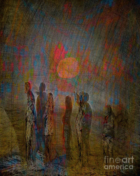 Digital Art - Sunset People by Edmund Nagele