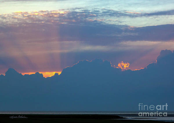 Photograph - Sunset Rays At The Beach by Michelle Constantine