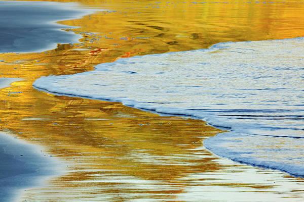 Wall Art - Photograph - Sunset Reflection On Beach, Indian by Adam Jones