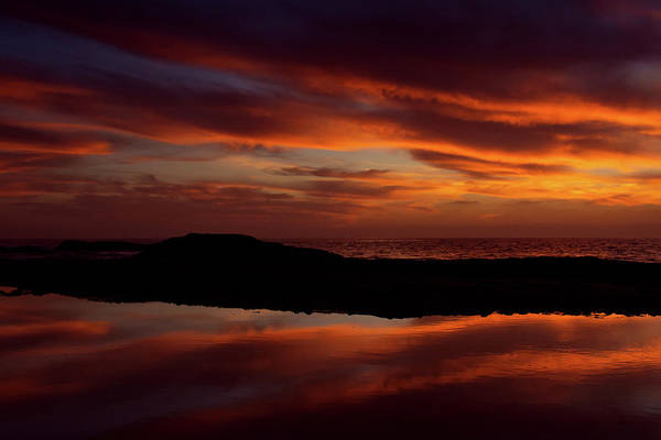 Photograph - Sunset Reflections Aliso Beach by Kyle Hanson
