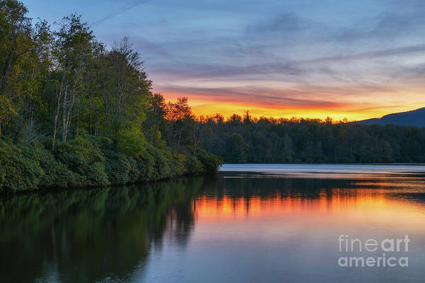 Photograph - Sunset Reflections At Price Lake  by Michael Ver Sprill
