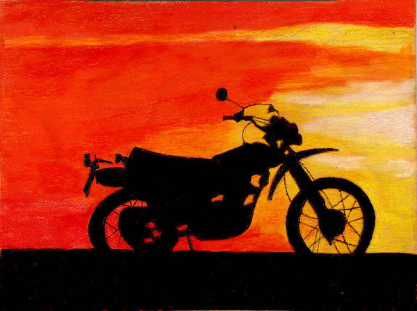 Wall Art - Painting - Sunset Ride by Jay Johnston