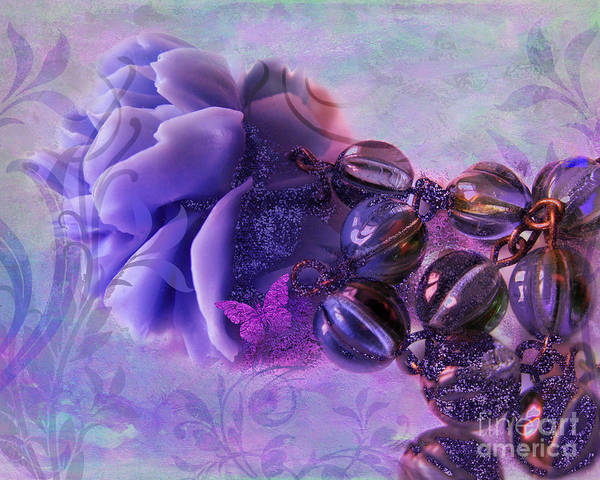 Wall Art - Photograph - Sunset Rose Pink Butterfly Fantasy Jewelry Art by Tina Lavoie