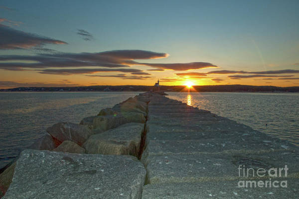 Photograph - Sunset Seawall by Ruth H Curtis