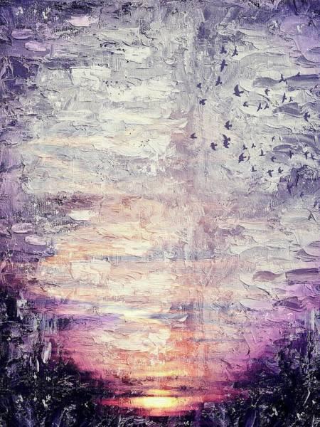 Wall Art - Painting - Sunset Sky by ArtMarketJapan