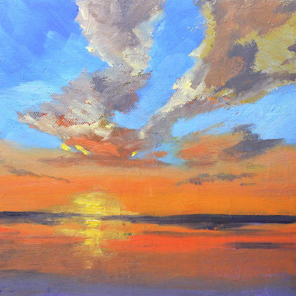 Wall Art - Painting - Sunset Sky by Nancy Merkle