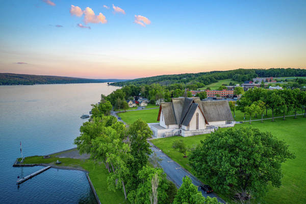 Photograph - Sunset Sky Norton Chapel by Ants Drone Photography