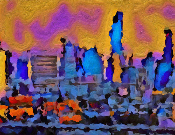 Wall Art - Painting - Sunset Sky Over Bangkok by Dan Sproul