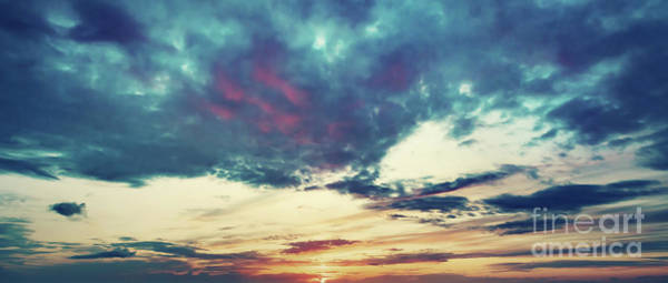 Wall Art - Photograph - Sunset Sky Panoramic Background. by Michal Bednarek