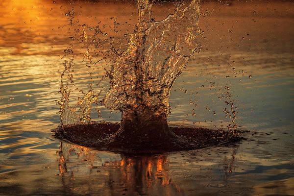 Photograph - Sunset Splash by Scott Bean