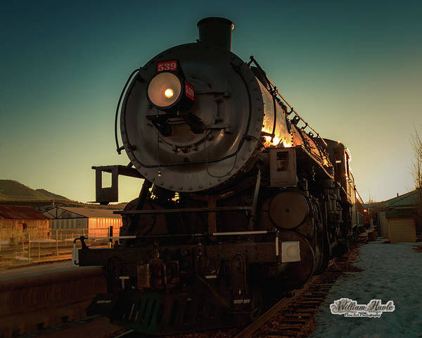Photograph - Sunset Steam Train 539 by William Havle