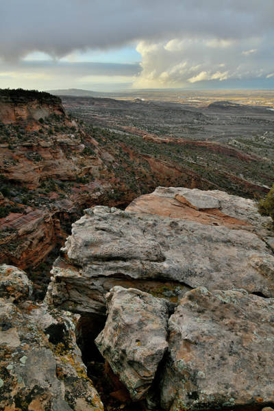 Photograph - Sunset Storm Clouds From Colorado National Monument by Ray Mathis