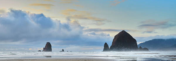 Photograph - Sunset Storm, Haystack Rock, Canon Beach, Oregon Coast by TL Mair