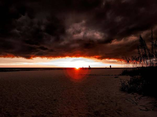 Photograph - Sunset Storm Over Anna Maria by Robert Stanhope