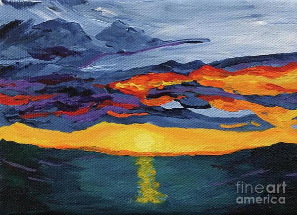 Painting - Sunset Streak by Annette M Stevenson
