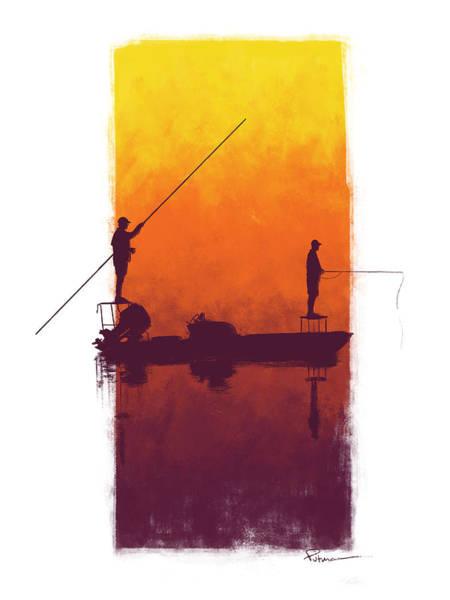 Redfish Digital Art - Sunset Summer Blues by Kevin Putman