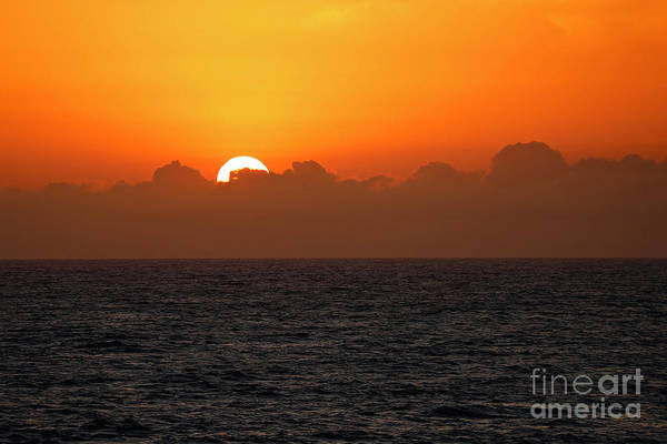 Wall Art - Photograph - Sunset Through The Clouds by American School