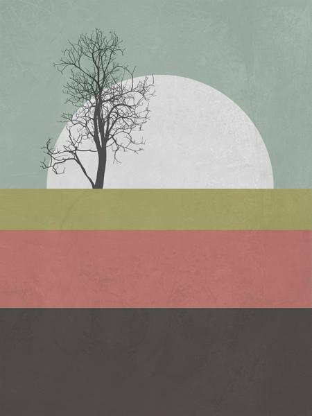 Earth Day Wall Art - Mixed Media - Sunset Tree by Naxart Studio