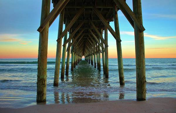 Photograph - Sunset Under The Pier by Cynthia Guinn