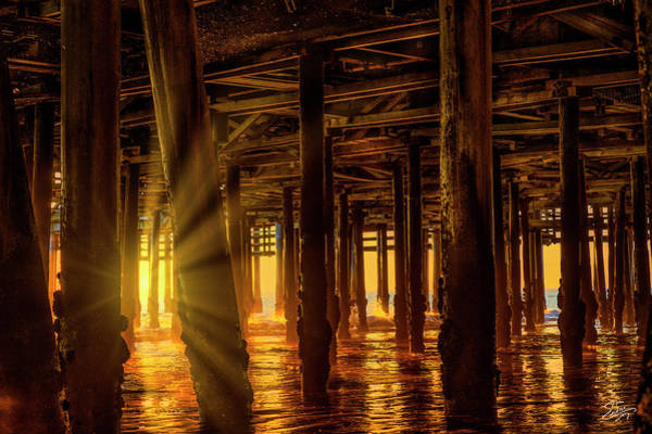 Photograph - Sunset Under The Pier by Endre Balogh