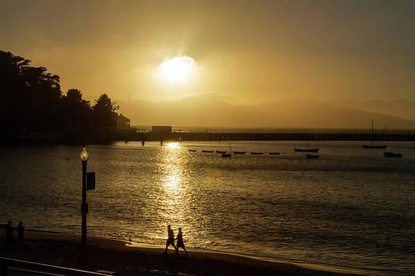 Photograph - Sunset Walk At Aquatic Park by Bonnie Follett