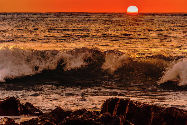 Photograph - Sunset Wave by John Bauer