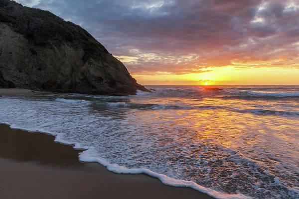 Photograph - Sunset Waves Dana Point by Cliff Wassmann