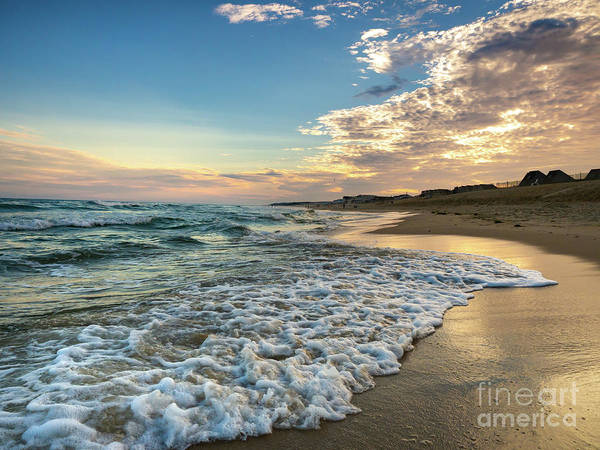 Photograph - Sunset Waves In Montauk by Alissa Beth Photography