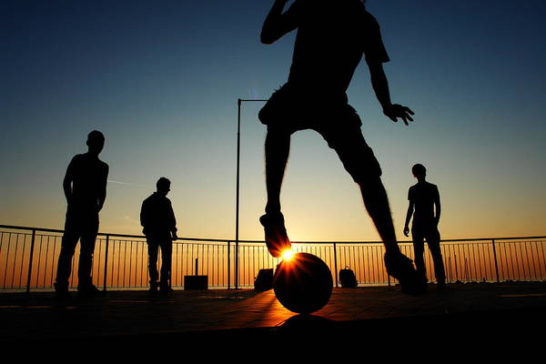 Photograph - Sunset With Football by Rolfo