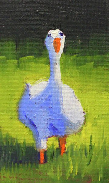 Wall Art - Painting - Sunshine Goose by Nancy Merkle