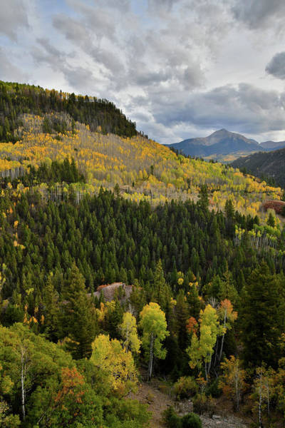 Photograph - Sunshine Mountain And Fall Colors From Highway 145 Near Telluride by Ray Mathis