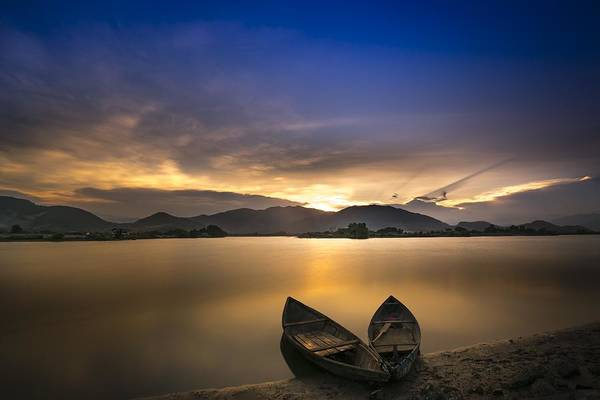 Photograph - Sunset On The Lake by Top Wallpapers