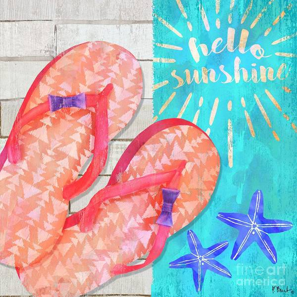 Flops Wall Art - Painting - Sunshine Sandals I by Paul Brent