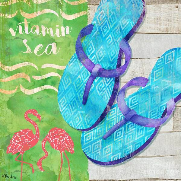 Flops Wall Art - Painting - Sunshine Sandals II by Paul Brent