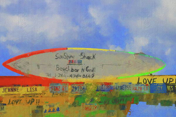 Photograph - Sunshine Shack Sign In Anguilla by Ola Allen