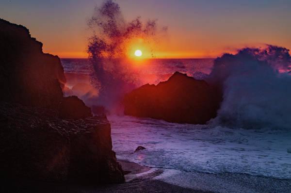 Photograph - Sunsplash At Black Sands Beach by Bill Cannon