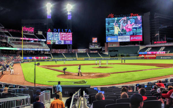 Painting - Suntrust Park Atlanta Braves Baseball Ballpark Stadium by Christopher Arndt