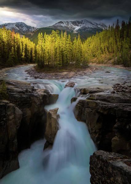 Photograph - Sunwapta Falls / Alberta, Canada by Nicholas Parker