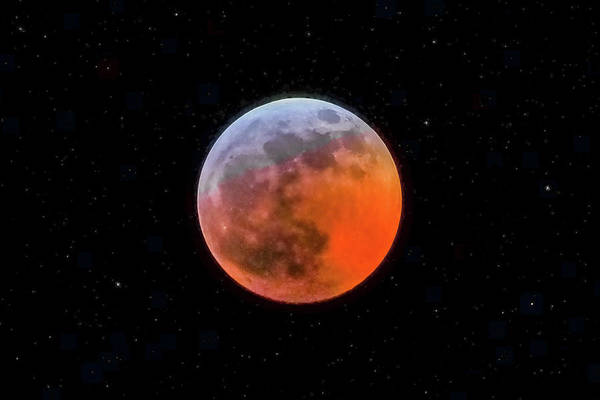 Photograph - Super Blood Moon Eclipse 2019 by Tom and Pat Cory