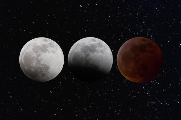 Photograph - Super Blood Wolf Moon - Celestial Art by Jordan Blackstone