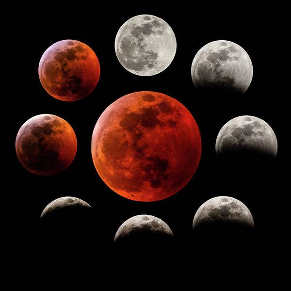 Photograph - Super Blood Wolf Moon Eclipse by Gary Kochel