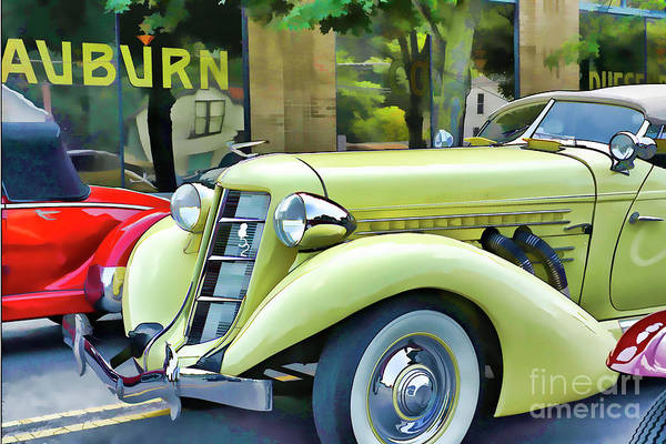 Super Car Mixed Media - Super Charged Auburn by Larry Dove
