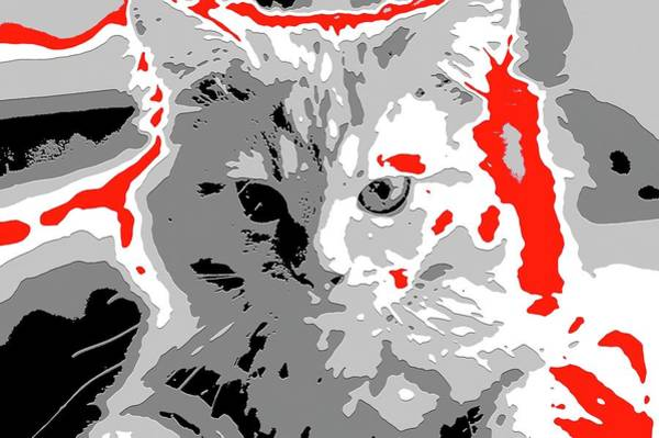 Digital Art - Super Duper Cat Embossed Election Poster by Don Northup