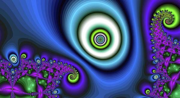 Digital Art - Super Hurricane Eye Blue by Don Northup