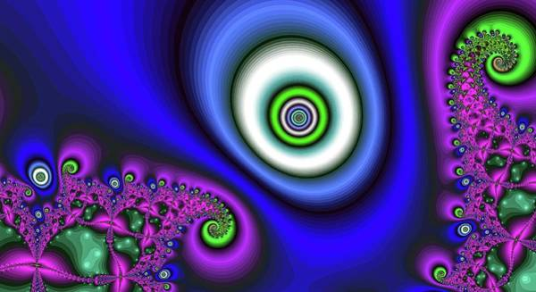 Digital Art - Super Hurricane Eye Dark Blue by Don Northup