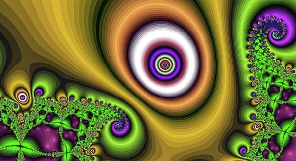 Digital Art - Super Hurricane Eye Gold by Don Northup