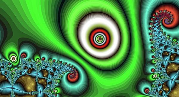 Digital Art - Super Hurricane Eye Green by Don Northup