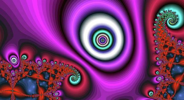 Digital Art - Super Hurricane Eye Magenta by Don Northup