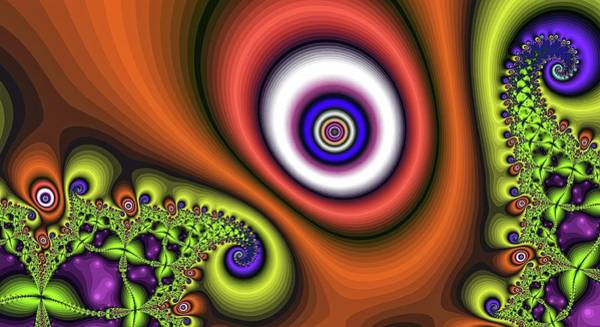 Digital Art - Super Hurricane Eye Orange by Don Northup